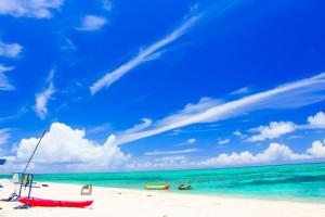 真夏のビーチ